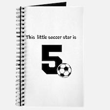 Little Soccer Star Custom Age Journal