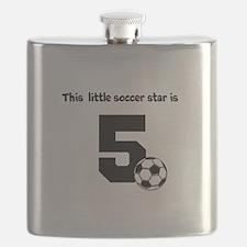 Little Soccer Star Custom Age Flask