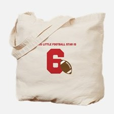 Football Star Custom Age Tote Bag