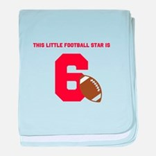 Football Star Custom Age baby blanket