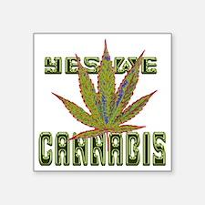 "art-yeswecannabis_edited-1 Square Sticker 3"" x 3"""
