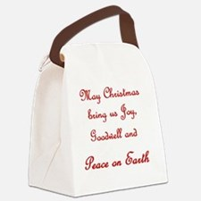 Our Wish Is Peace Canvas Lunch Bag