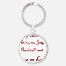 Our Wish Is Peace Round Keychain