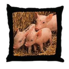 three piglets Throw Pillow