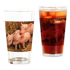 three piglets Drinking Glass