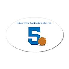 Basketball Star Custom Age Wall Sticker
