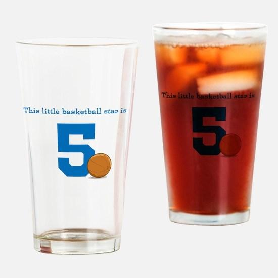 Basketball Star Custom Age Drinking Glass