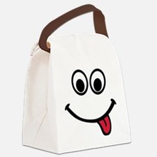 face_red_tongue Canvas Lunch Bag
