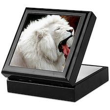 White Lion mousepad Keepsake Box