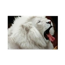 White Lion mousepad Rectangle Magnet
