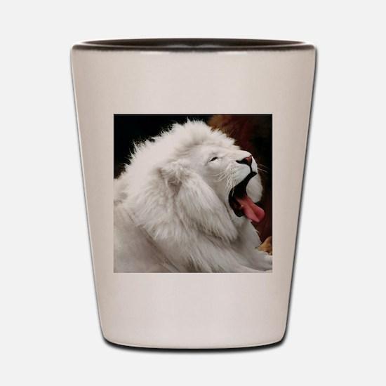 White Lion mousepad Shot Glass