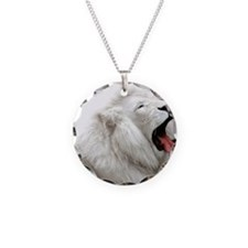 White Lion mousepad Necklace