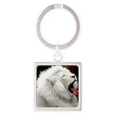 White Lion mousepad Square Keychain