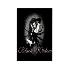 Black Widow Rectangle Magnet (100 pack)