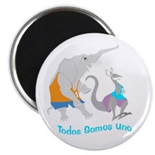 spanish elephant and kangaroo true 8x8 Magnet