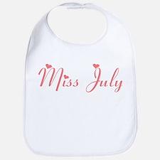 Miss July Bib