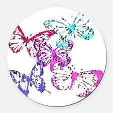 butterfliesupdated Round Car Magnet