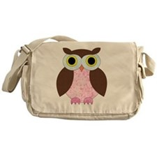 Its A Girl Owl Messenger Bag