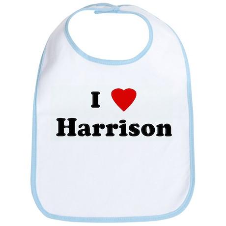 I Love Harrison Bib