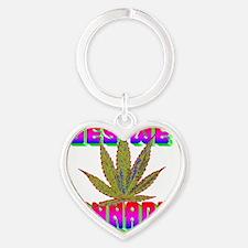 artyeswecannabis-redblue-AAAAA Heart Keychain