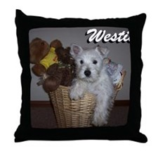 billy_westies Throw Pillow