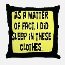 clothesRNDblk Throw Pillow