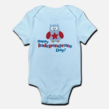 Happy Independence Day Owl Infant Bodysuit