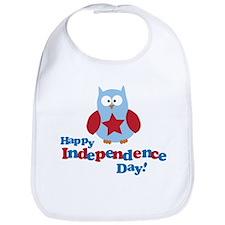 Happy Independence Day Owl Bib