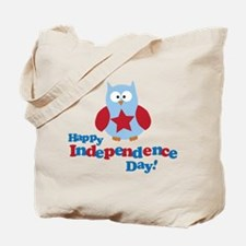 Happy Independence Day Owl Tote Bag