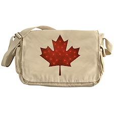 Canadian Christmas Messenger Bag