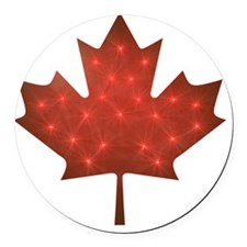 Canadian Christmas Round Car Magnet