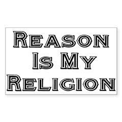 Reason Is My Religion Rectangle Decal