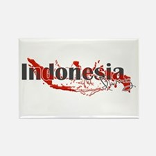 Indonesia Diver Rectangle Magnet