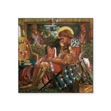 """Wedding of Saint George and Square Sticker 3"""" x 3"""""""