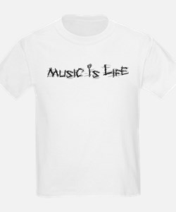 Music Is Life Kids T-Shirt