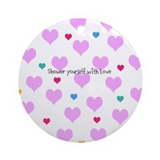 Hearts shower with love Ornament (Round)