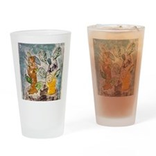 Mariams Collograph print Drinking Glass