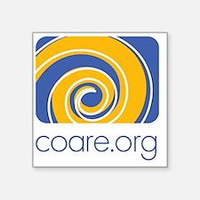 """COARE logo Square Sticker 3"""" x 3"""""""
