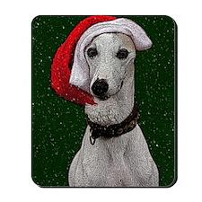 Snow Santa Greyhound Mousepad
