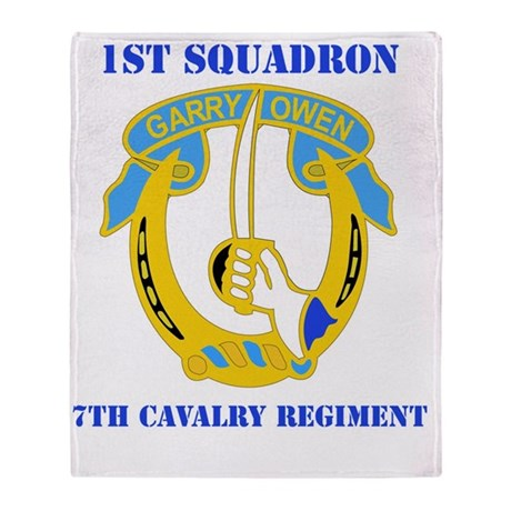 7TH CAV RGT WITH TEXT Throw Blanket