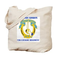 7TH CAV RGT WITH TEXT Tote Bag