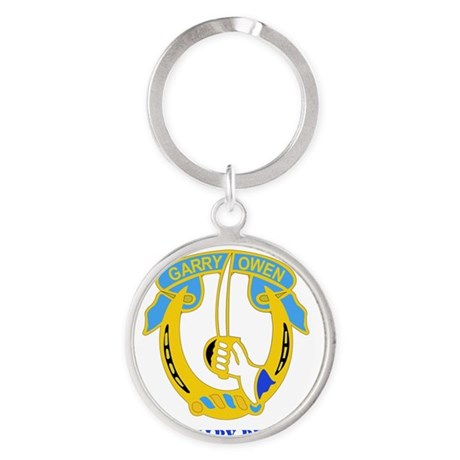 7TH CAV RGT WITH TEXT Round Keychain