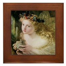Beautiful Fairy By Anderson Framed Tile