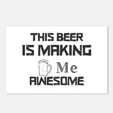 This Beer Is Making Me Aw Postcards (Package of 8)