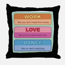 worklovedance Throw Pillow