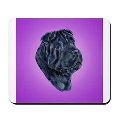 Black Shar Pei Mousepad