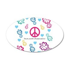 Shower yourself with Peace and Love Wall Sticker