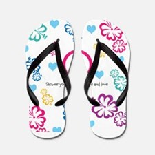 Shower yourself with Peace and Love Flip Flops