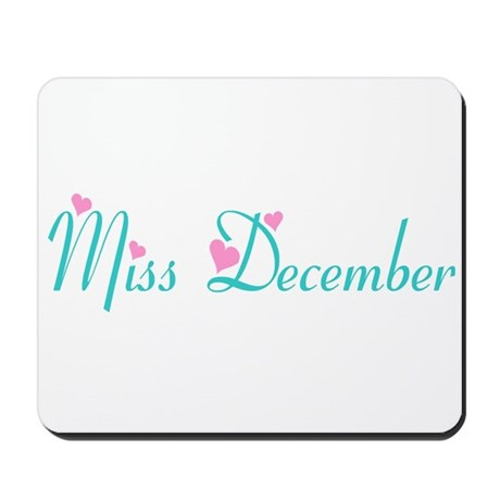 Miss December Mousepad