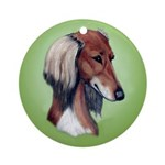 Saluki Ornament (Round)